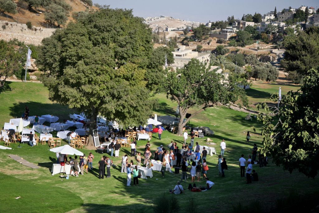 A view of the Hinnom Valley from the Cinematheque, which overlooks the classic Jerusalem scenery from its lovely but isolated location (photo credit: Matanya Tausig/Flash 90)