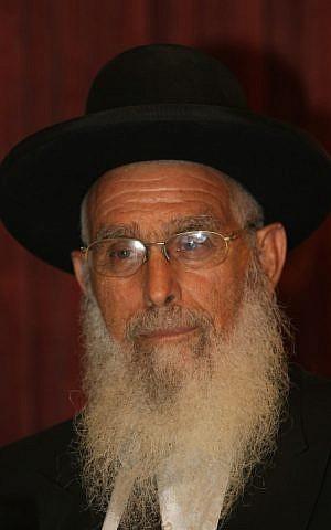 Rabbi Yaakov Ariel, the chief rabbi of Ramat Gan and a member of Forum Takana (Photo credit: Kobi Gideon/ Flash 90)
