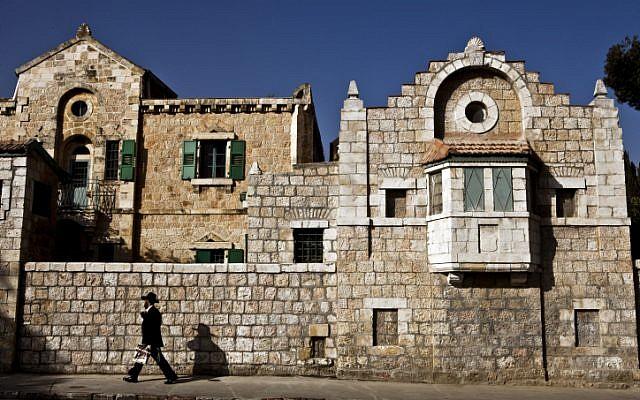 Jerusalem's busy Hanevi'im Street (photo credit: Abir Sultan/Flash90)