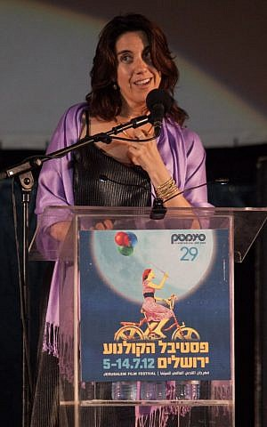 Alesia Weston at the opening of her first Jerusalem Film Festival, last year (photo credit: Uri Lenz/Flash 90)