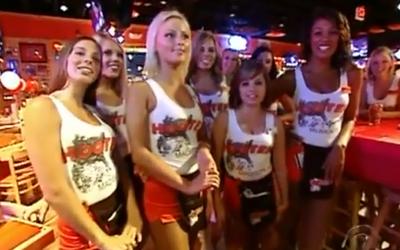 Hooters claims San Diego Mayor Bob Filner doesn't demonstrate proper respect to women. (YouTube)