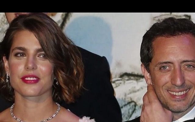 Gad Elmaleh (right) and Charlotte Casiraghi, the daughter of the princess of Monaco (photo credit: YouTube screen cap)