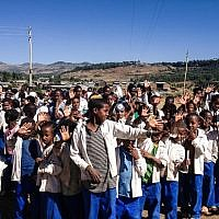 The Jewish Agency-run school in Gondar was the only one in the area with a computer lab -- which was donated to the city, which now runs the school (photo credit: Michal Shmulovich/ToI)