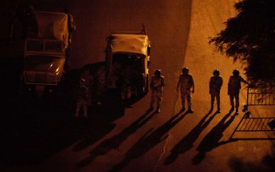 Egyptian soldiers stand guard at a checkpoint during a dawn-to-dusk curfew in Cairo, Egypt, Tuesday, Aug. 20, 2013. (photo credit:AP/Maya Alleruzzo)