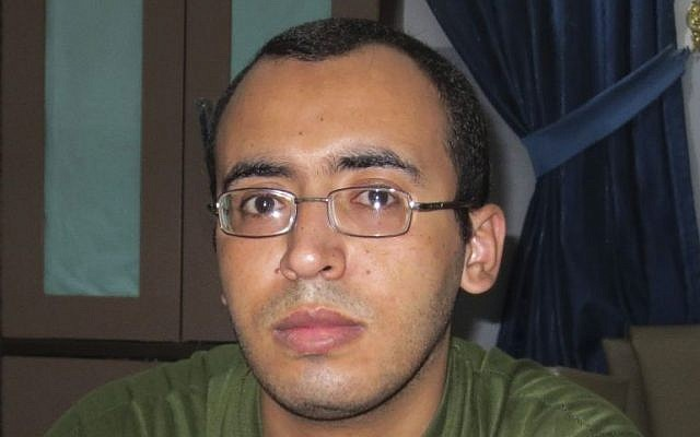 Hani Abu Aliyan, a 28-year-old convicted of killing a boy in 2000, when he was underage, and of killing a friend in a dispute over money (photo credit: AP/Human Rights Watch)