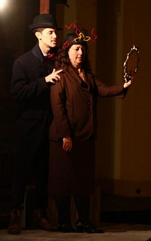 Mike Hall as Rat and Daria Harper as Ma'am in 'The Cylist.' (photo credit: Allison Tenn)