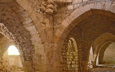 A hall in the recently uncovered Crusader hospital in Jerusalem's Old City (photo credit: Courtesy/Israel Antiquities Authority)