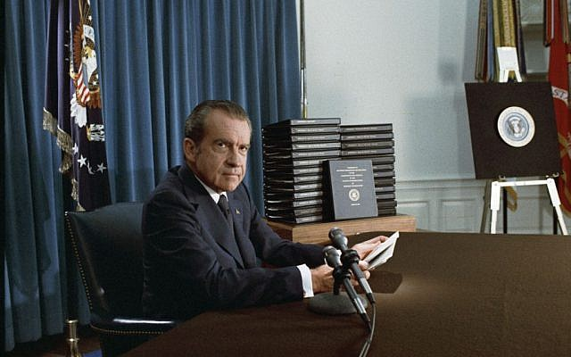 Former US president Richard Nixon. (photo credit: National Archives & Records Administration, public domain)