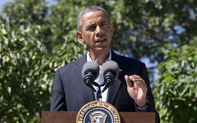 US President Barack Obama (photo credit: AP/Jacquelyn Martin/File)