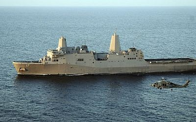 The USS San Antonio, an amphibious assault ship, carries helicopters and Marines but no cruise missiles. (Photo credit: US Navy photo by Mass Communication Specialist 3rd Class John K. Hamilton/Released/Wikipedia)