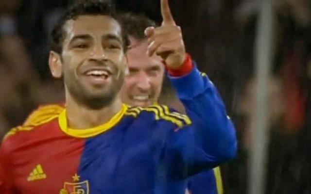 FC Basel's Mohamed Salah (photo credit: Youtube/screengrab)