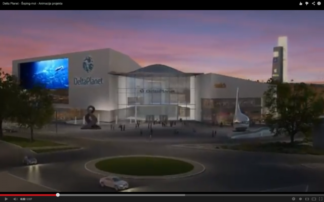 Graphic mock-up of planned shopping mall (YouTube screenshot)