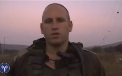 IDF soldier describes pre-dawn gunfight in Jenin, West Bank, on Tuesday (photo credit: screenshot from YouTube)