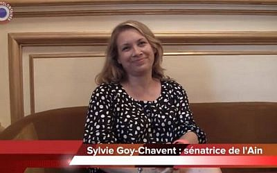Sylvie Goy-Chavent (photo credit: screen capture CercleDesVolontaires/Youtube)