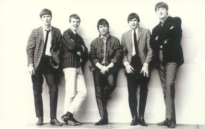 Eric Burdon (center) and the Animals in 1963-4 (photo credit: Courtesy)