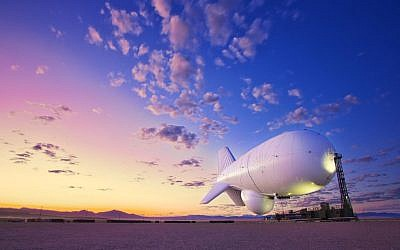 It's neither a bird nor a plane, just a JLENS aerostat ready to track and monitor incoming threats to the US mainland. (Photo credit: Courtesy Raytheon)