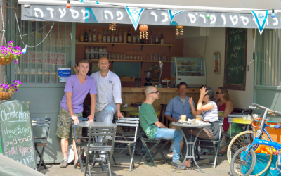 Illustrative photo of a Tel Aviv cafe (Courtesy Christopher Cafe Facebook page)