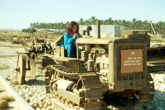 An original Caterpillar D2 tractor (photo credit: Shmuel Bar-Am)
