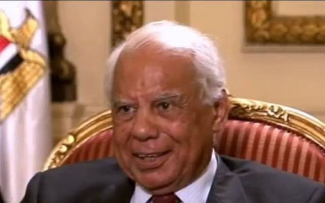 Egyptian interim Prime Minister Hazem el-Beblawi speaking to ABC News (photo credit: YouTube screen capture)