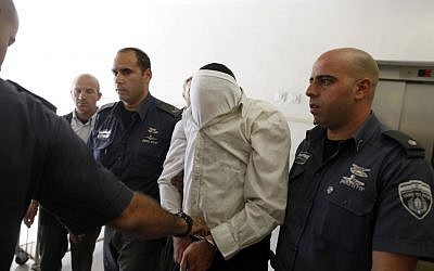 The accused spy being brought into court in Jerusalem Thursday. (photo credit: Flash90)