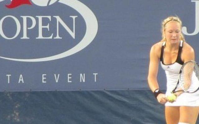 Israeli tennis player Julia Glushko (Photo credit: Howard Blas)