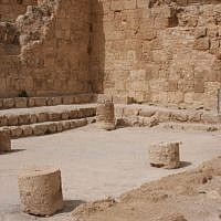 Herodian synagogue (photo credit: Shmuel Bar-Am)