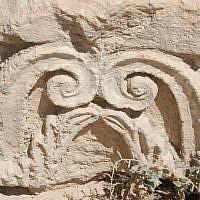 Herodian capitals found in villa (photo credit: Shmuel Bar-Am)