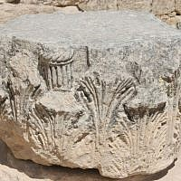 Herodian capitals from the villa (photo credit: Shmuel Bar-Am)