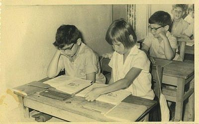 Justice Minister Tzipi Livni (front row, right) in elementary school. (photo credit: via Facebook)