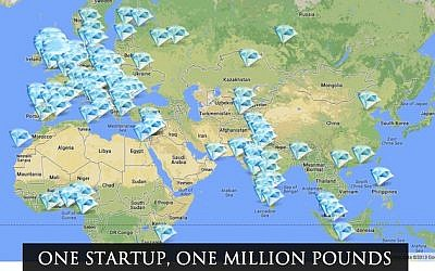 Where some of the applicants in the Million Pound Start-up contest are located (Photo credit: Courtesy)
