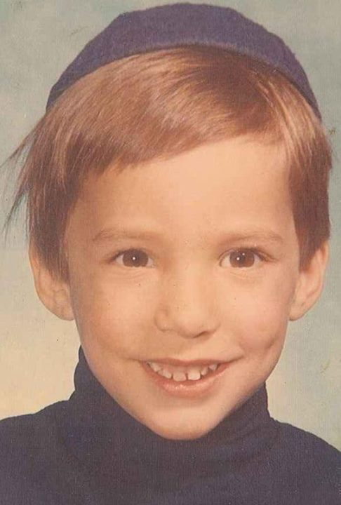 Economy and Trade Minister Naftali Bennett on his first day of first grade (photo credit: via Facebook)