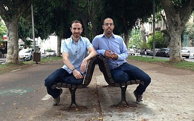 (L. to R.) Idan Bachar and Oren Noy, Noknok's founders (Photo credit: Sheetrit)