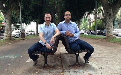 (L. to R.) Idan Bachar and Oren Noy, Noknok's founders (Photo credit: Sheetrit)