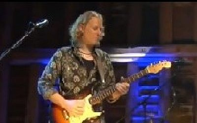 British blues guitarist Matt Schofield (photo credit: screen capture/YouTube)