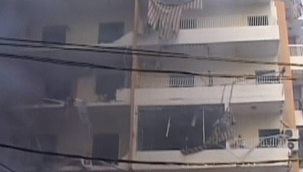 The aftermath of a car bomb attack in a Hezbollah stronghold in Lebanon, Thursday, August 15, 2013 (photo credit: Channel 2 screen capture)