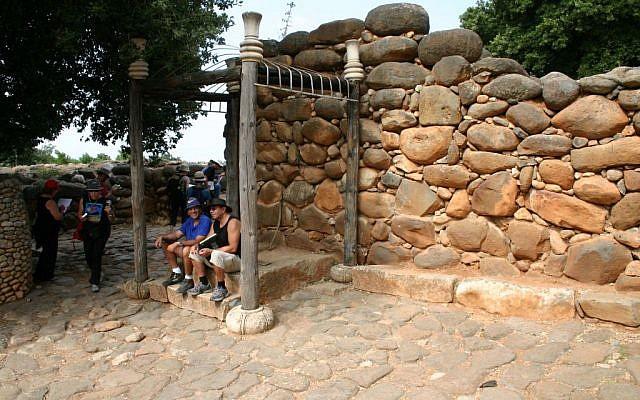 The bench where the city elders sat? (photo credit: Shmuel Baram)