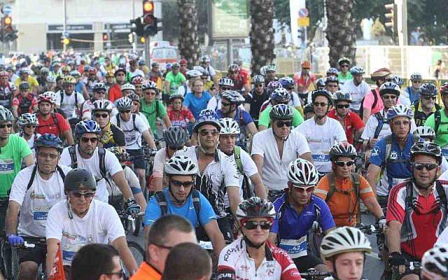 Riders take to the streets at Sovev Tel Aviv 2012. (photo credit: courtesy Sovev Tel Aviv)