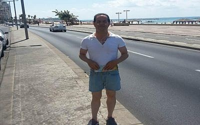 Ali Mansouri on the Tel Aviv boardwalk near the US Embassy (photo credit: Courtesy Shin Bet)