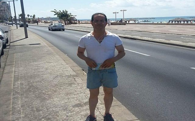 Ali Mansouri on the Tel Aviv boardwalk near the US Embassy (photo credit: Courtesy Shin Bet)
