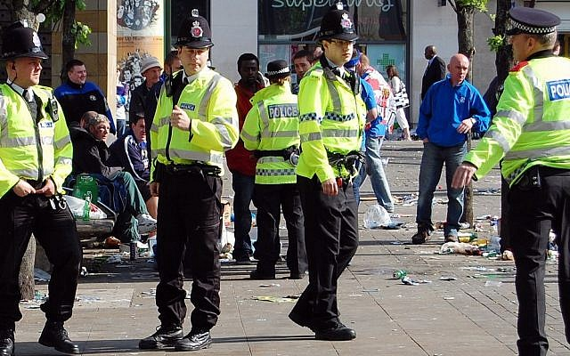 Illustrative photo of British policemen. (photo credit: Wikimedia Commons)