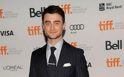 Daniel Radcliffe arrives at the premiere of 'The F Word' at the Toronto International Film Festival. (photo credit: Chris Pizzello/Invision/AP)