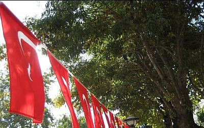 Turkish Victory Day decorations. (photo credit: BY:2.0 Flickr/ccarlstead)