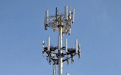 Illustrative photo of a cellphone tower (photo credit: CC BY Joe Ravi/Wikipedia)