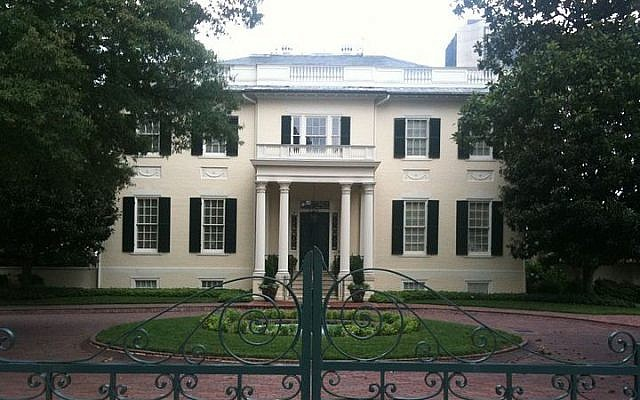 The Executive Mansion, home of the governor, in Richmond, Virginia (photo credit: Leonard Woody/Wikimedia Commons)