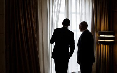 Barack Obama, left, and Benjamin Netanyahu at the White House in 2013. (Pete Souza/The White House/File)