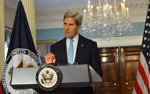 US Secretary of State John Kerry (photo credit: State Department)