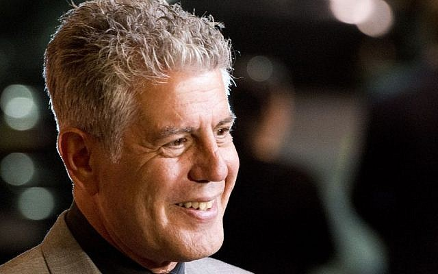Celebrity chef Anthony Bourdain in New York. (photo credit: Charles Sykes/Invision/AP Images)