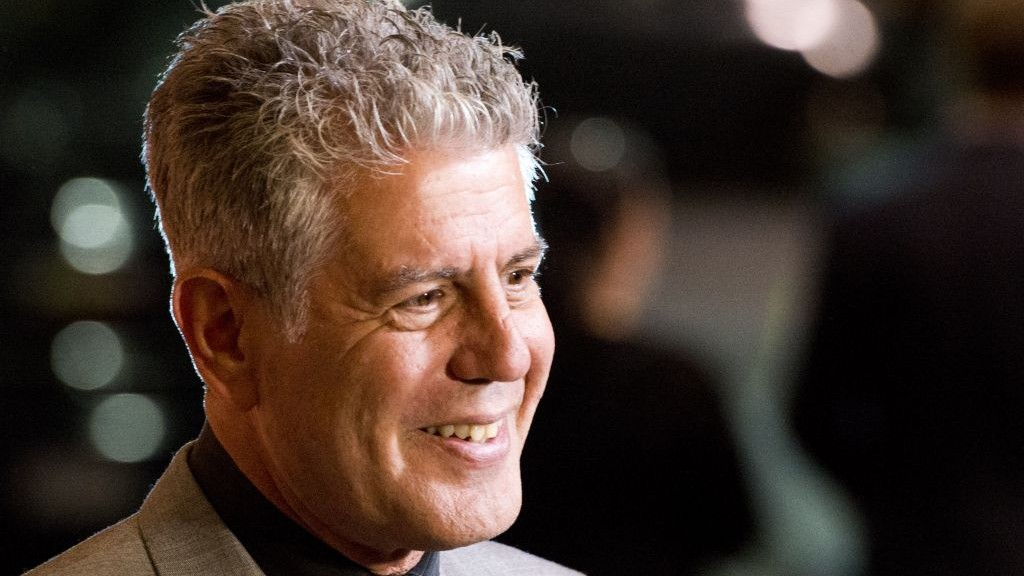 Celebrity chef Anthony Bourdain in New York