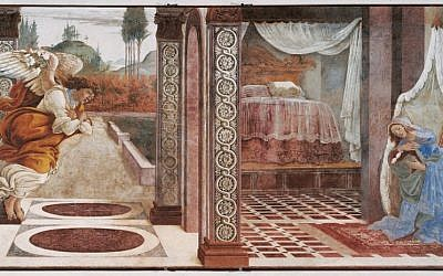 Annunciation of San Martino alla Scala, 1481, Uffizi Gallery, Florence, Italy (photo credit: Wikipedia Commons)