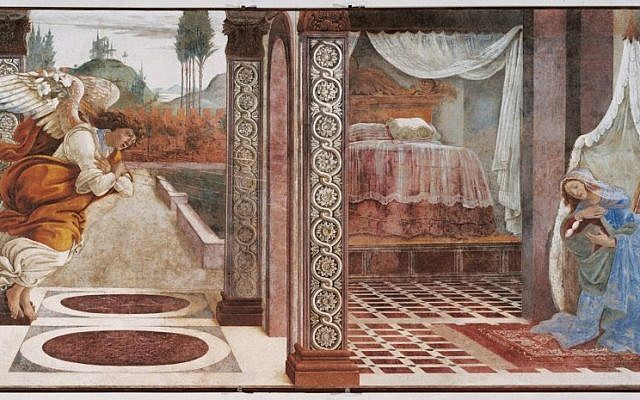 Annunciation of San Martino alla Scala, 1481, Uffizi Gallery, Florence, Italy (photo credit: Wikipedia Commons)